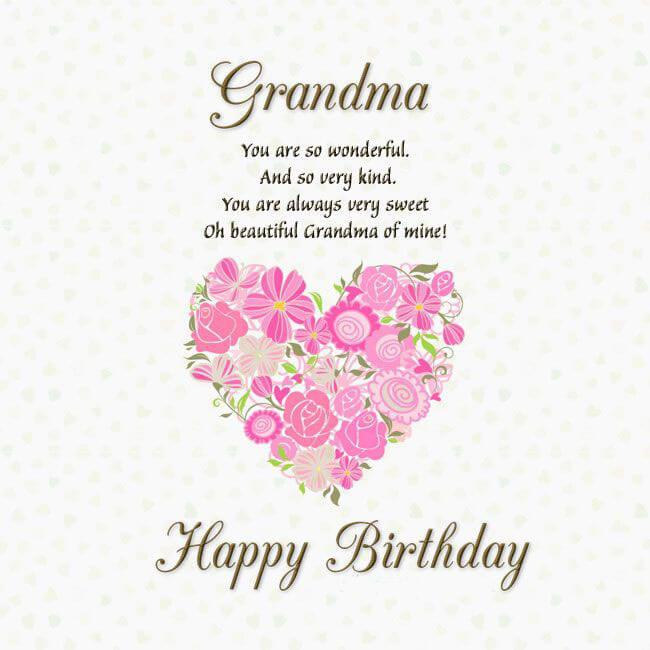 Happy Birthday Grandma in unique way